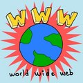 World wide web illustration Royalty Free Stock Photography