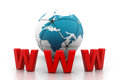 World wide web internet concept Royalty Free Stock Photo