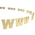World wide web symbols as copyspace background Royalty Free Stock Photo