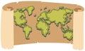 Worldmap on brown paper