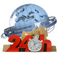Worldwide delivery in 24 Hrs Stock Image