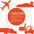 Worldwide freight shipping business company poster