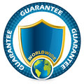 Worldwide guarantee icon design Stock Image