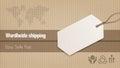 Worldwide shipping banner