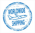 Worldwide Shipping Rubber Stamp Royalty Free Stock Photography