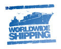 Worldwide shipping stamp.