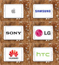 Worldwide smartphone and technology brands apple , samsung , sony , lg , huawei , htc
