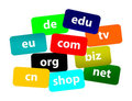 Worldwide Top Domains Stock Photos
