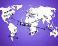 Worldwide Trade Represents Buy Corporation And E-Commerce Royalty Free Stock Photo