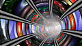 Wormhole with video wall Royalty Free Stock Photo