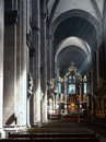 Worms cathedral mystic scenery inside of the in a city in the rhineland palatinate in germany Royalty Free Stock Images
