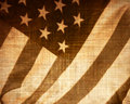 Worn american flag Royalty Free Stock Image
