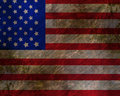 Worn american flag Stock Images