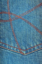 Worn blue denim jeans texture Stock Photography