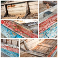 Worn boat details above a Royalty Free Stock Photos