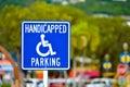 Worn handicapped parking sign