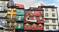 Worn out houses, Porto, Portugal Royalty Free Stock Photography