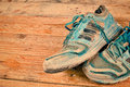 Worn sports shoes Royalty Free Stock Photo
