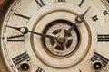 Worn Vintage Antique Clock Face Royalty Free Stock Photos