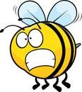 Worried Cartoon Bee