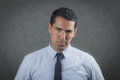 Worried latino business man about bankruptcy Stock Image