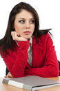 Worried young businesswoman Royalty Free Stock Photography