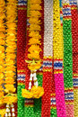 Worship garland colorful artificial for buddhism Stock Images