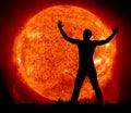 Worship to Sun Royalty Free Stock Photo