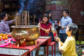 Worshipping at sin sze si ya temple kuala lumpur a look inside s oldest chinese for taoism also called daoism Royalty Free Stock Photos