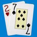 Worst Poker Hand Royalty Free Stock Photo