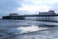 Worthing pier at dusk Royalty Free Stock Photo