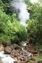 Wotten waven sulphur springs dominica isla caribeña Imagen de archivo libre de regalías