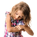 Wound child arm scar Royalty Free Stock Photo