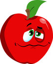 Wounded apple vector style illustrated vector format is available Stock Image