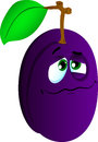 Wounded plum vector style illustrated vector format is available Stock Photos