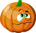 Wounded pumpkin vector style illustrated vector format is available Royalty Free Stock Photo