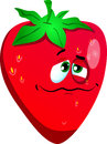 Wounded strawberry vector style illustrated vector format is available Royalty Free Stock Images