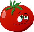 Wounded tomato vector style illustrated vector format is available Royalty Free Stock Photo