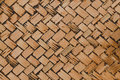 Woven bamboo texture for pattern and background it is Royalty Free Stock Photography