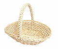 Woven basket on isolated white background Royalty Free Stock Photo