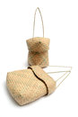 Woven baskets traditional wicker lunch Stock Photography