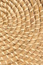 Woven basketwork habdmade rounf pattern Royalty Free Stock Image