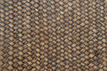 Woven brown wicker basket pattern background texture. Royalty Free Stock Photo