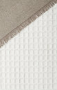 Woven burlap and cotton texture checkered Royalty Free Stock Photo