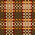 Woven crisscross plaid pattern seamless Royalty Free Stock Photo