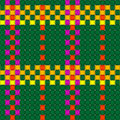 Woven crisscross plaid pattern seamless Royalty Free Stock Photos