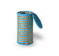 Woven cylindrical open box on a white background Royalty Free Stock Photos