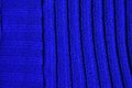 Woven fabric dark blue texture made by embroidered wool Stock Photography