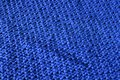 Woven fabric indigo blue texture made by embroidered wool Royalty Free Stock Photography