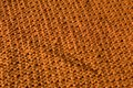 Woven fabric orange texture made by embroidered wool Royalty Free Stock Image
